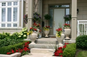 Flowers Curb Appeal Home Calgary