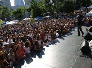 Fiestaval Calgary Festival July 2014 Stage
