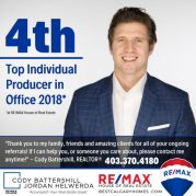 Cody Battershill top REMAX Real Estate Agent in Calgary, Alberta